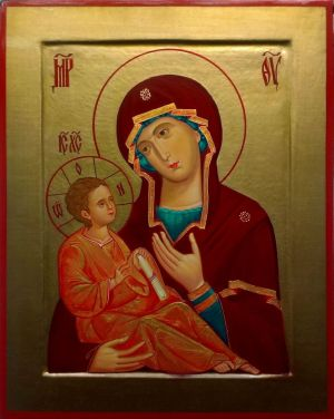 Painting, Religious genre - Icon Of The Mother Of God Odigitria.