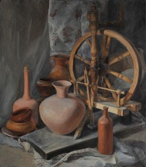 Painting, Realism - Russian still life.
