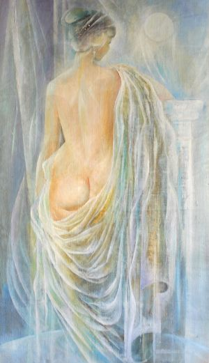 Painting, Nude (nudity) - Koroleva-beloy-nochi