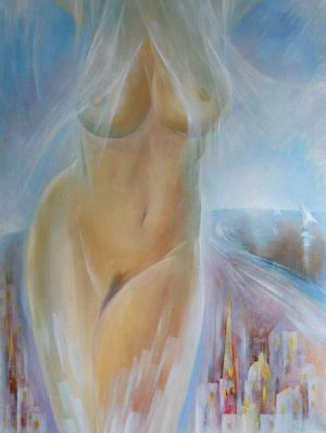 Painting, Nude (nudity) - Belye-nochi