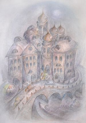 Graphics, Pencil - Kupola-i-mosty-Sankt--Peterburga