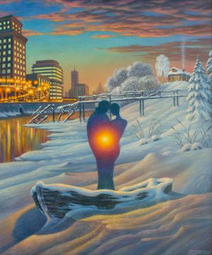 Painting, Surrealism - Ostrov---2