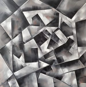 Painting, Abstractionism - TRANSGEOMETRIC INTELLIGENCE