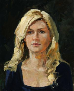 Painting, Realism - The woman's portrait