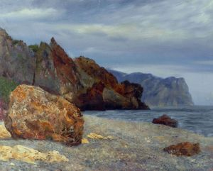 Painting, Seascape - Pasmurnyy-den