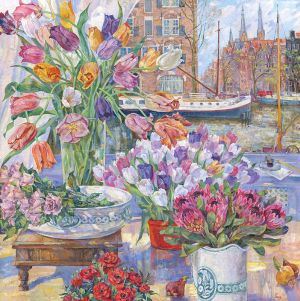 Painting, Still life - Flowers Of Amsterdam