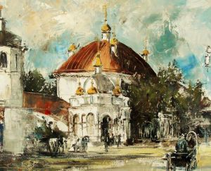 Painting, Impressionism - Church of the Assumption of the Blessed Virgin