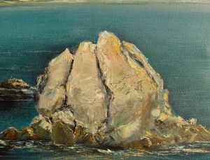 Painting, Impressionism - Crimea. Shore of Simeiz