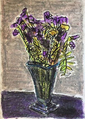 Graphics, Still life - Purple bouquet