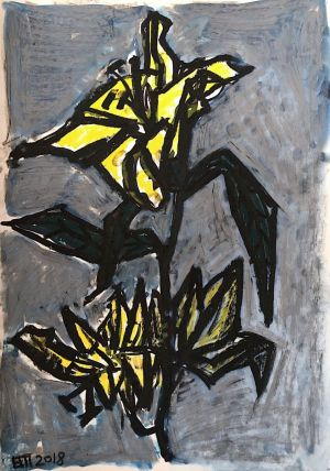 Graphics, Still life - Yellow twilight flower