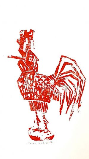 Graphics, Animalistics - Red rooster