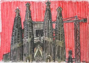 Graphics, City landscape - Ispaniya-La-Sagrada-familia