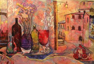 Painting, Expressionism - Dream-in-Tuscany