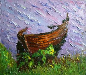 Painting, Seascape - Boat