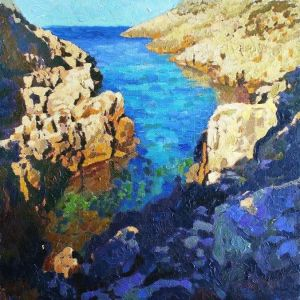 Painting, Seascape - Greece. Bay