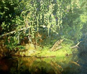 Painting, Landscape - Forest river