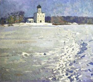 Painting, Landscape - January in Pokrov