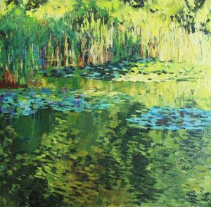 Painting, Landscape - Green pond