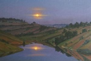 Painting, Romanticism - Moon's mirror