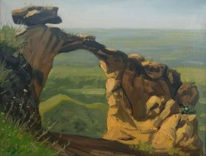 Painting, Impressionism - Ring-mountain