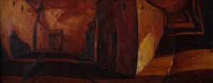 Painting, City landscape - Gorod-RED