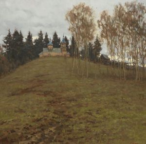 Painting, Landscape - Uphill