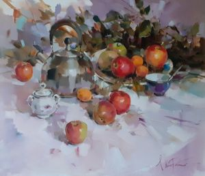 Painting, Still life - Sunny August