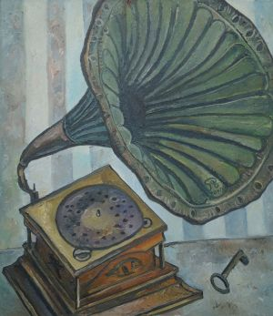 Painting, Still life - Gramophone from the house of Count Sheremetev