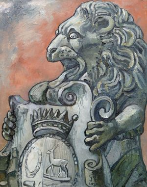 Painting, Animalistics - Coat of arms of Count Sheremetev