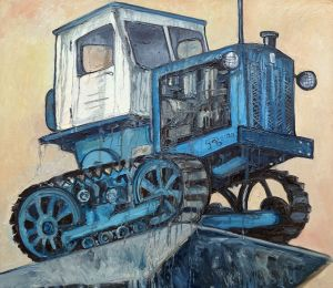 Painting, Historical genre - Lipetsk tractor