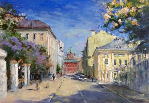 Painting, Impressionism - Spring in Petrovsky lane