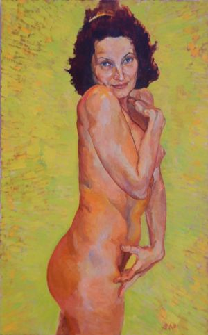 Painting, Nude (nudity) - Koketka
