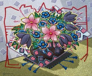 Painting, Surrealism - Bouquet of flowers.