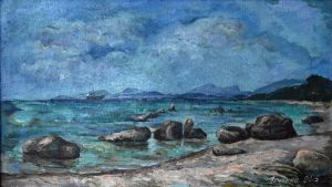 Painting, Seascape - Kamni