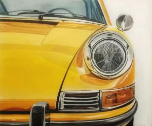 Painting, Realism - Porsche-911-classic