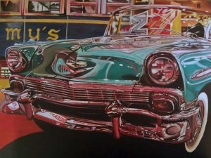 Painting, Realism - Chevrolet-Bel-Air