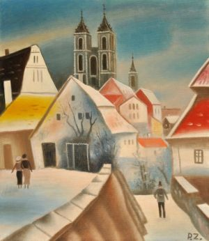 Painting, City landscape - City of Meissen