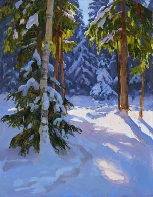 Painting, Landscape - Sorceress winter