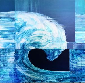 Painting, Surrealism - The-Great-Wave
