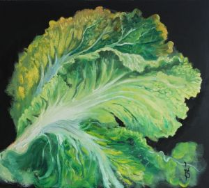 Painting, Still life - Cabbage