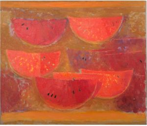 Painting, Abstractionism - Watermelon