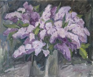 Painting, Still life -    Lilac. May 2019