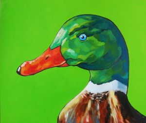 Painting, Animalistics - DUCK-TALES-OIL-PAINTING