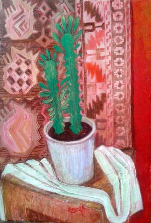 Painting, Still life - Cactus.