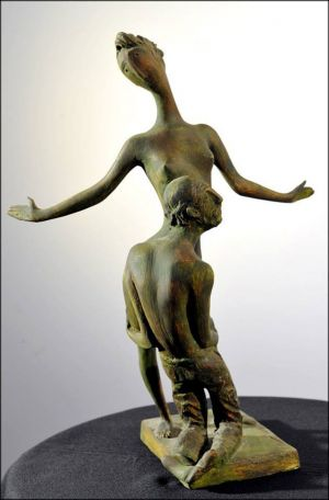 Sculpture, Easel - Old lover.