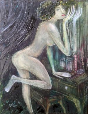Painting, Figurative painting - Mirror