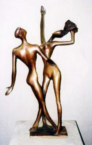 Sculpture, Romanticism - Dance. 2002year bronze.65x35x20cm 7500 $