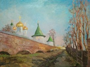 Painting, Realism - Ipatiev Monastery march 2020