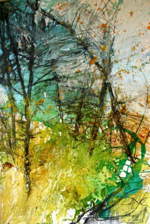 Graphics, Expressionism - Midday in the forest