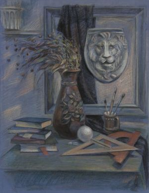 Graphics, Realism - Still life with lion mask